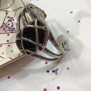 Black Onyx & Sterling Silver Cuff Bracelet